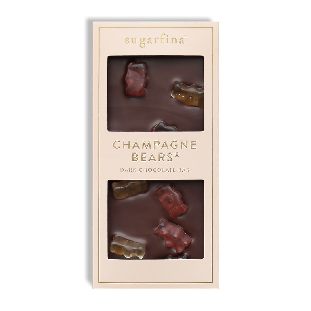 Champagne Bears Dark Chocolate Bar