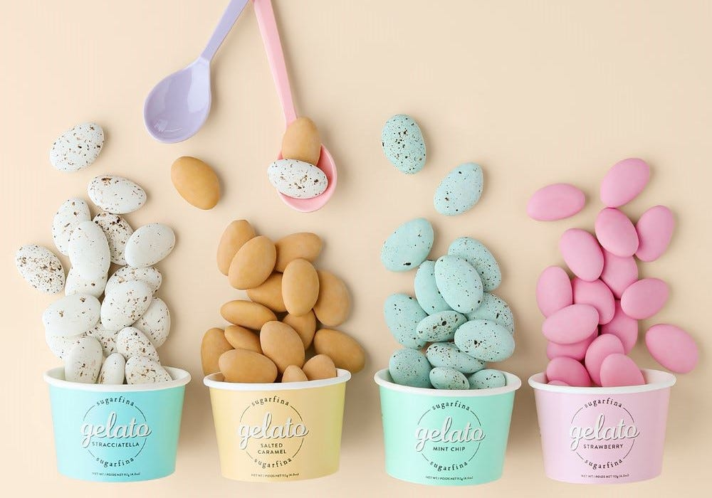 Ciao, summer! Enjoy all four of our Gelato flavors plus three surprise Candy Cubes when you spend $100.