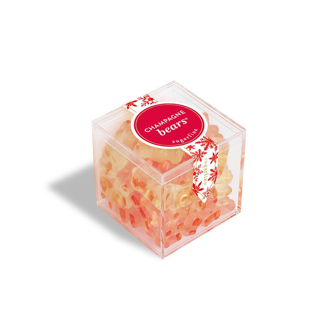 Holiday Champagne Bears: Large Candy Cube
