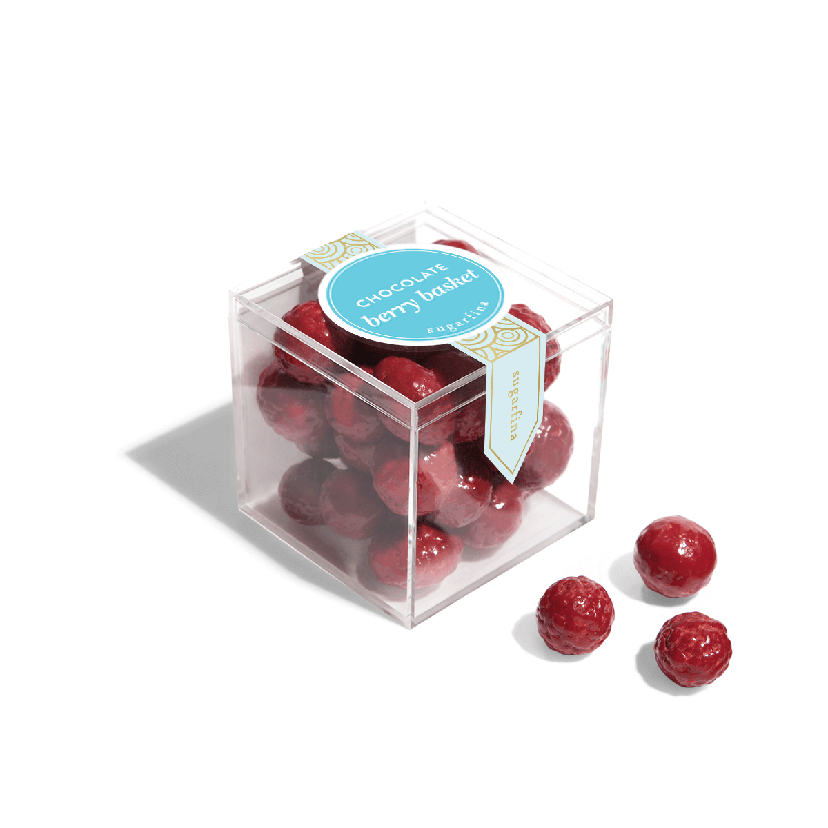 Chocolate Berry Basket - Small Candy Cube