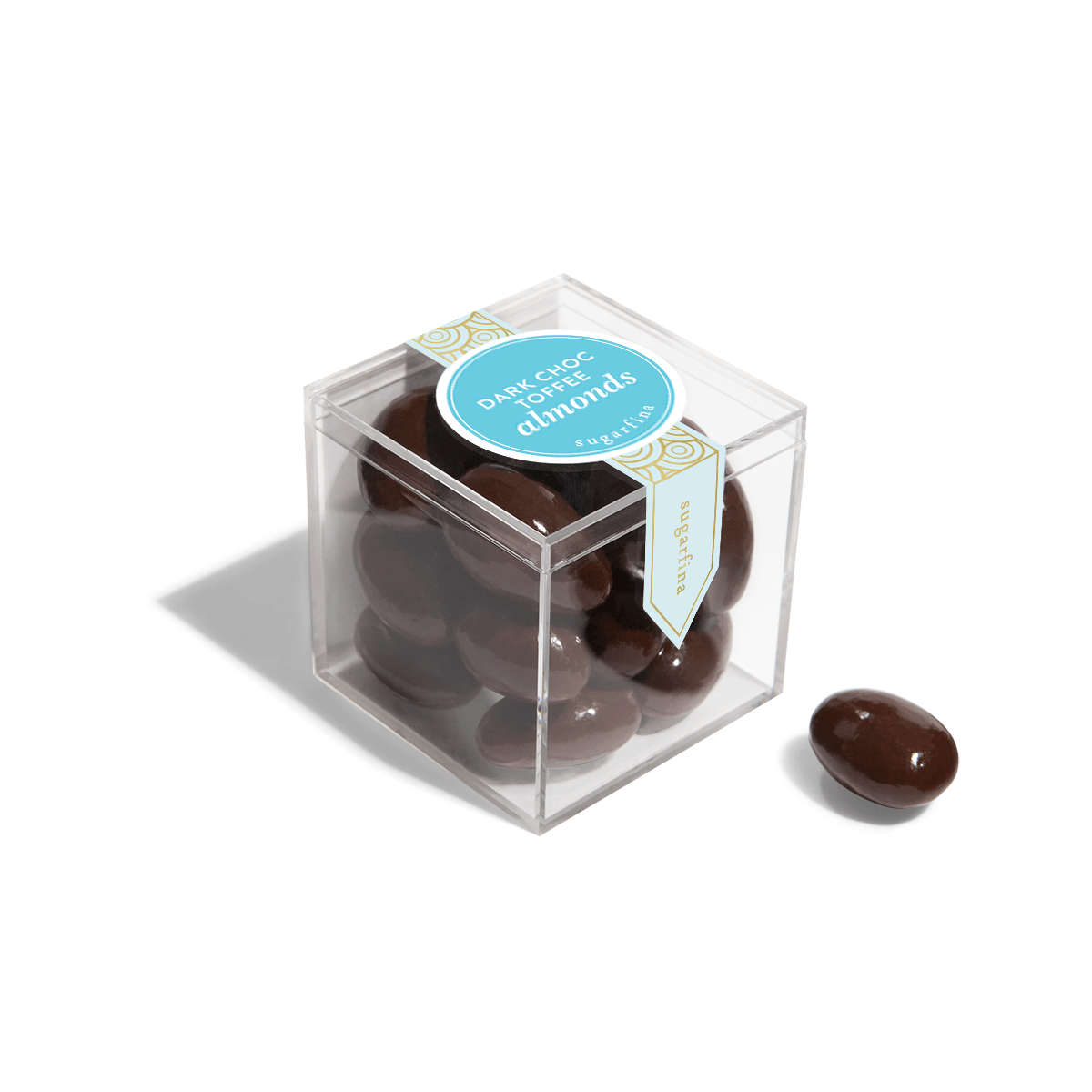 Dark Chocolate Toffee Almonds - Small Candy Cube