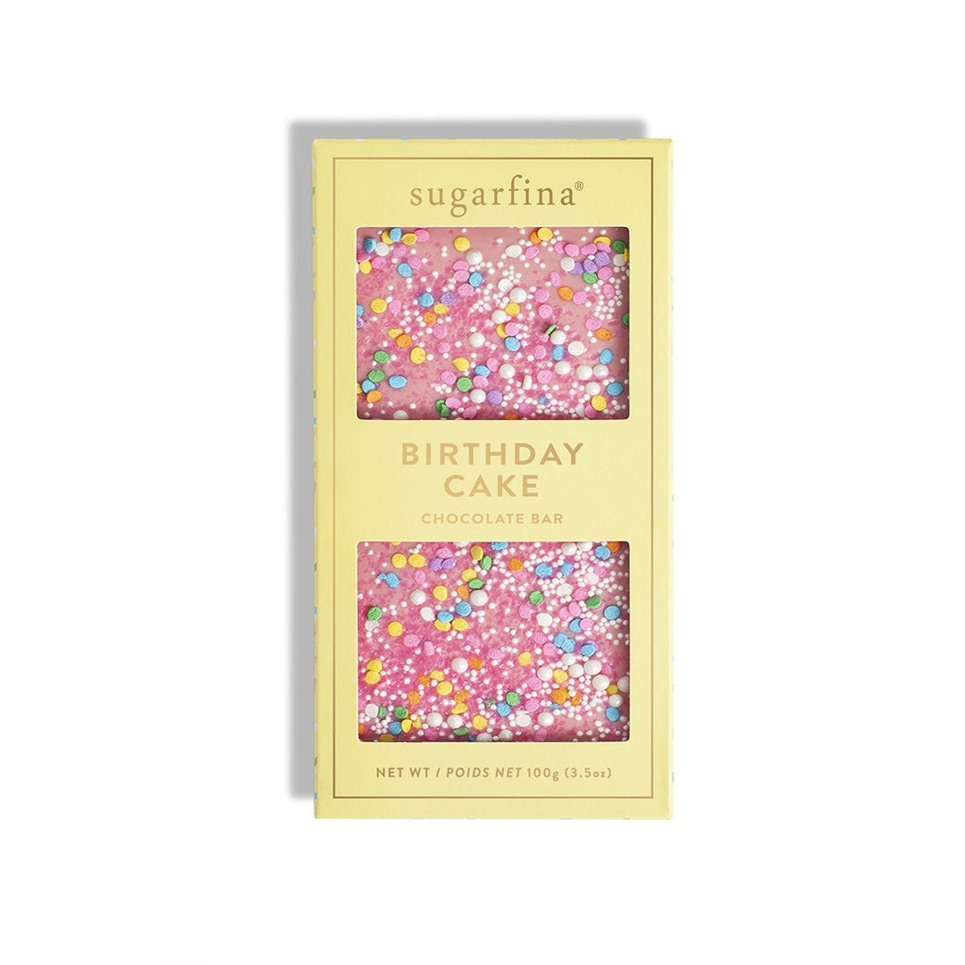Pink Birthday Cake Chocolate Bar