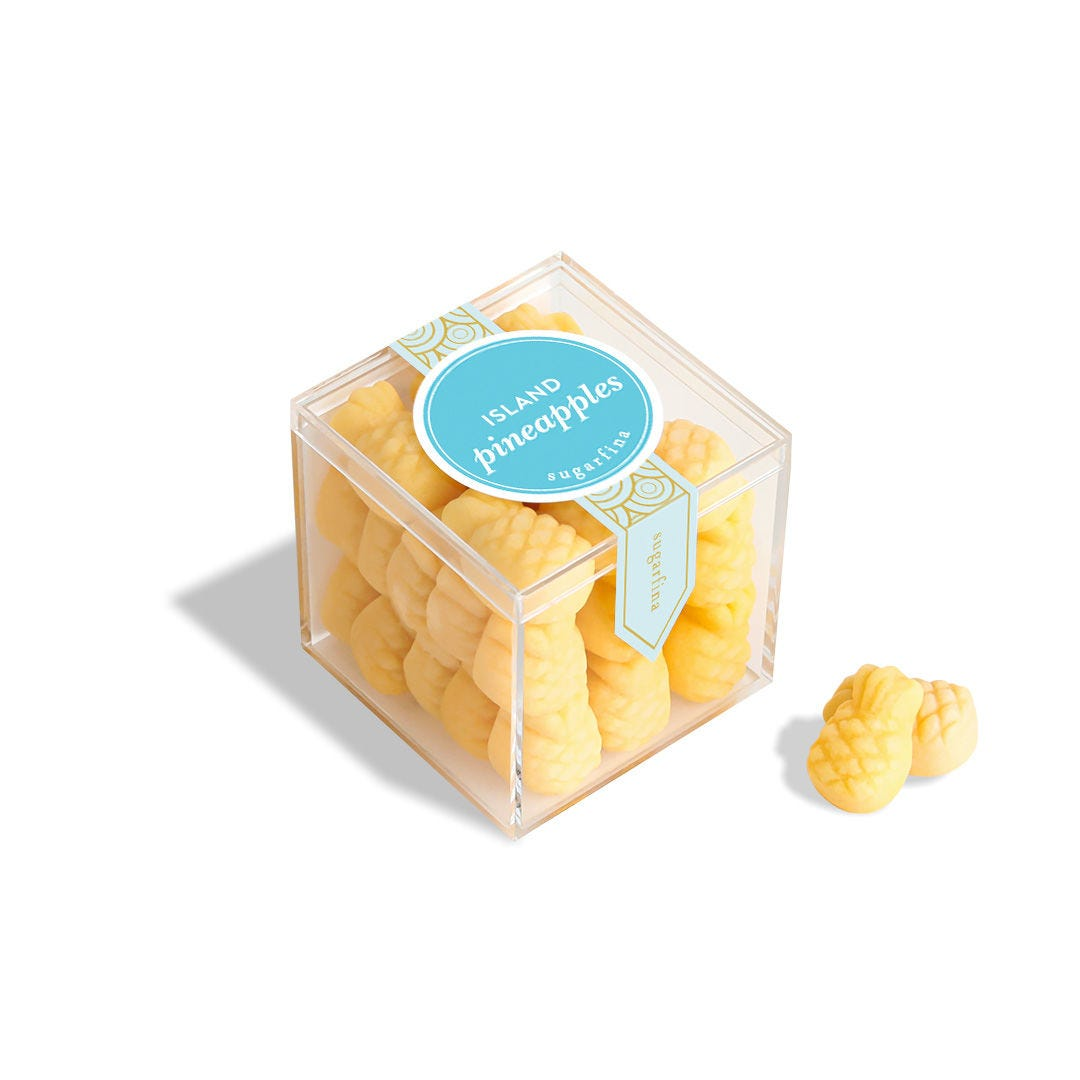 Island Pineapples Small Candy Cube