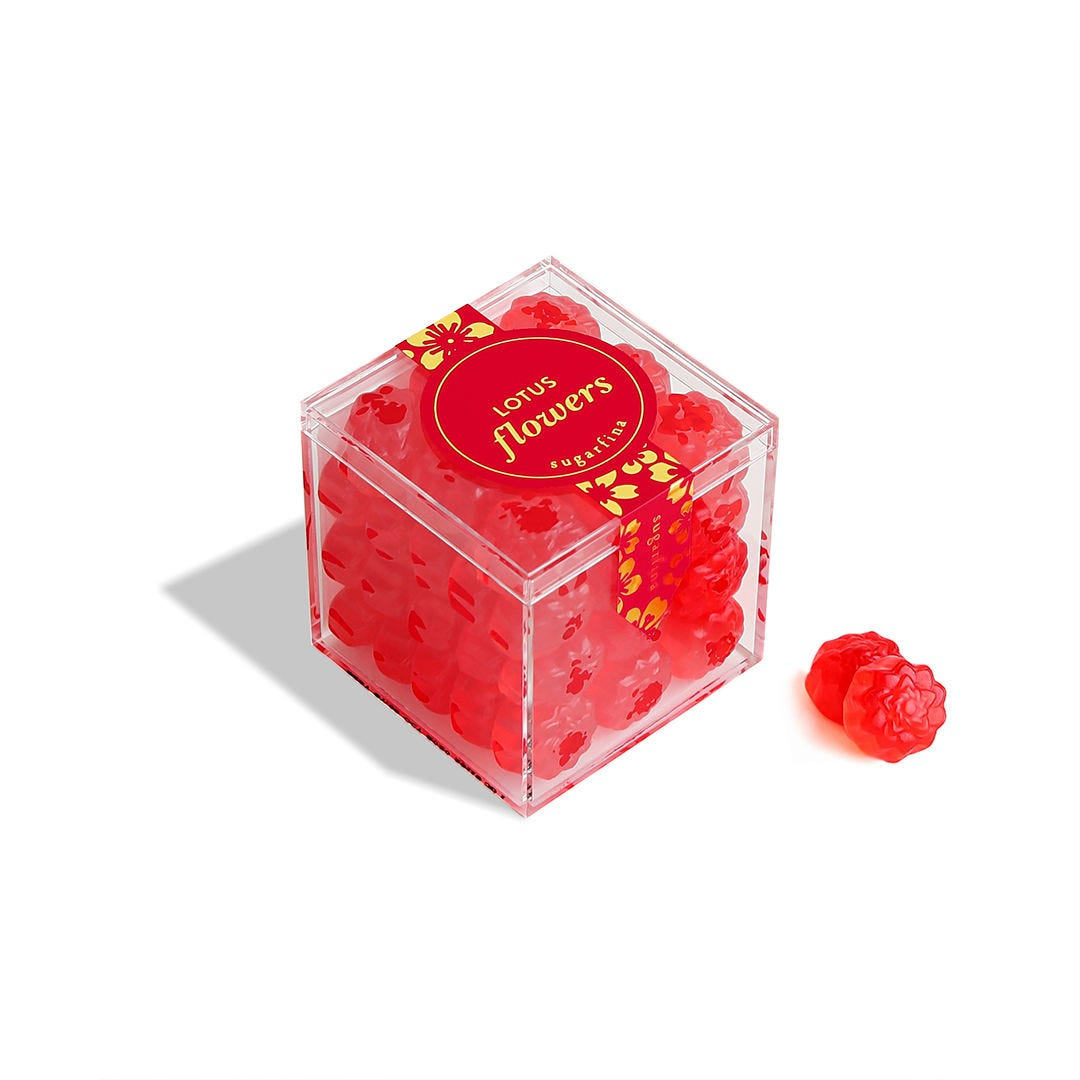 Lunar New Year 2 Piece Candy Bento Box - Red and Gold Foil Box