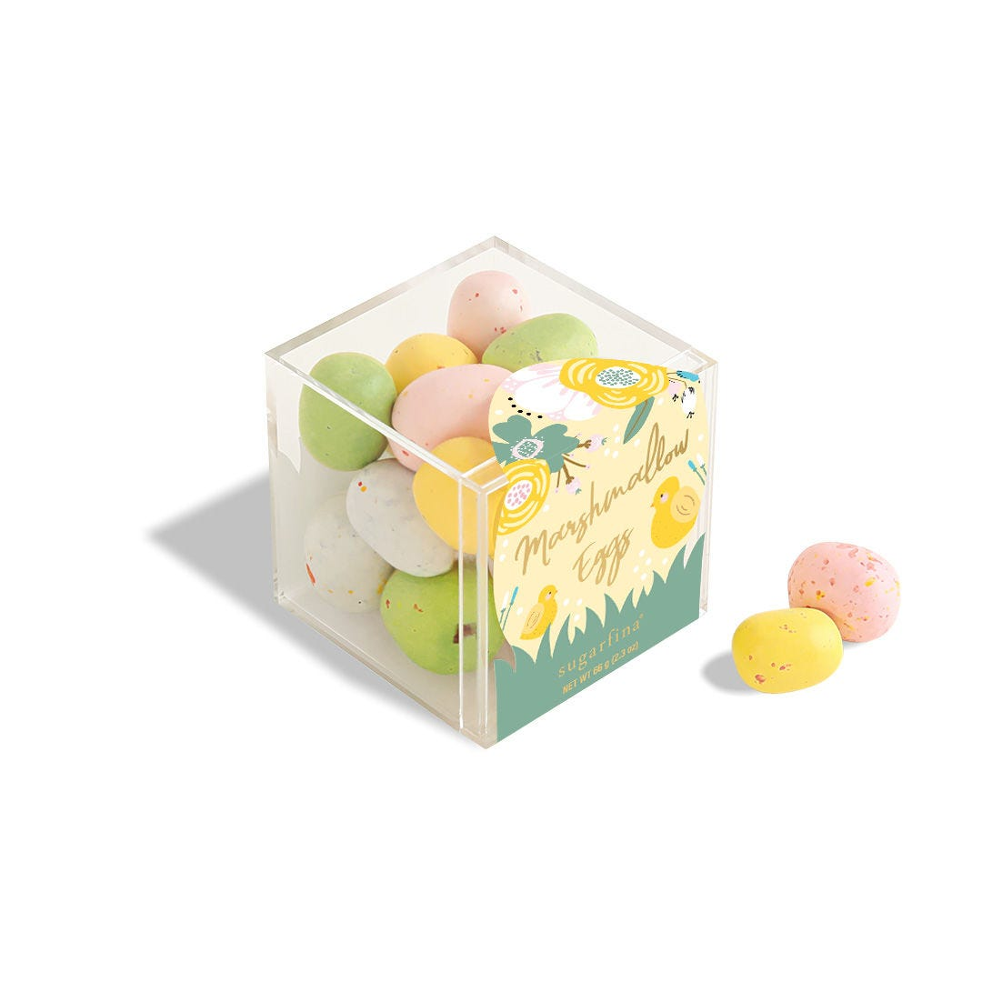 Milk Chocolate Marshmallow Eggs Candy Cube