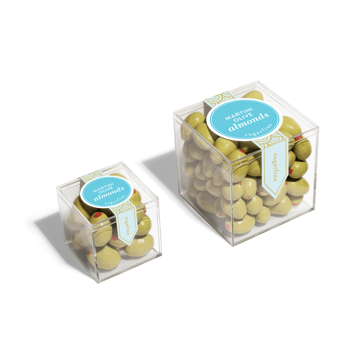Martini Olive Almonds - Large Candy Cube