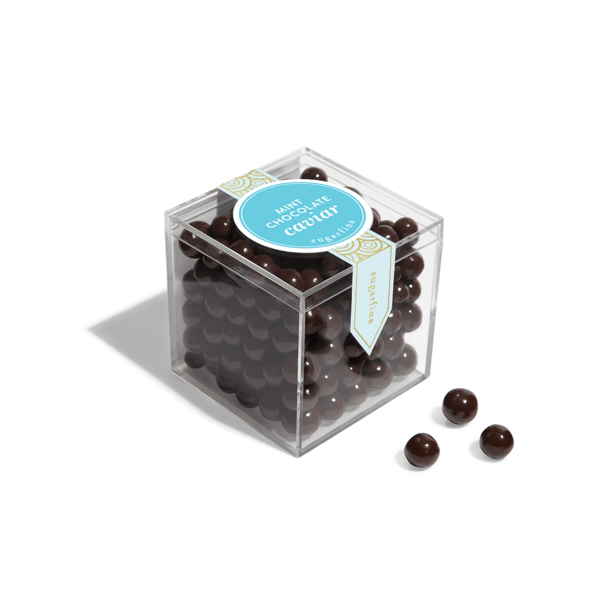 Mint Chocolate Caviar - Small Candy Cube