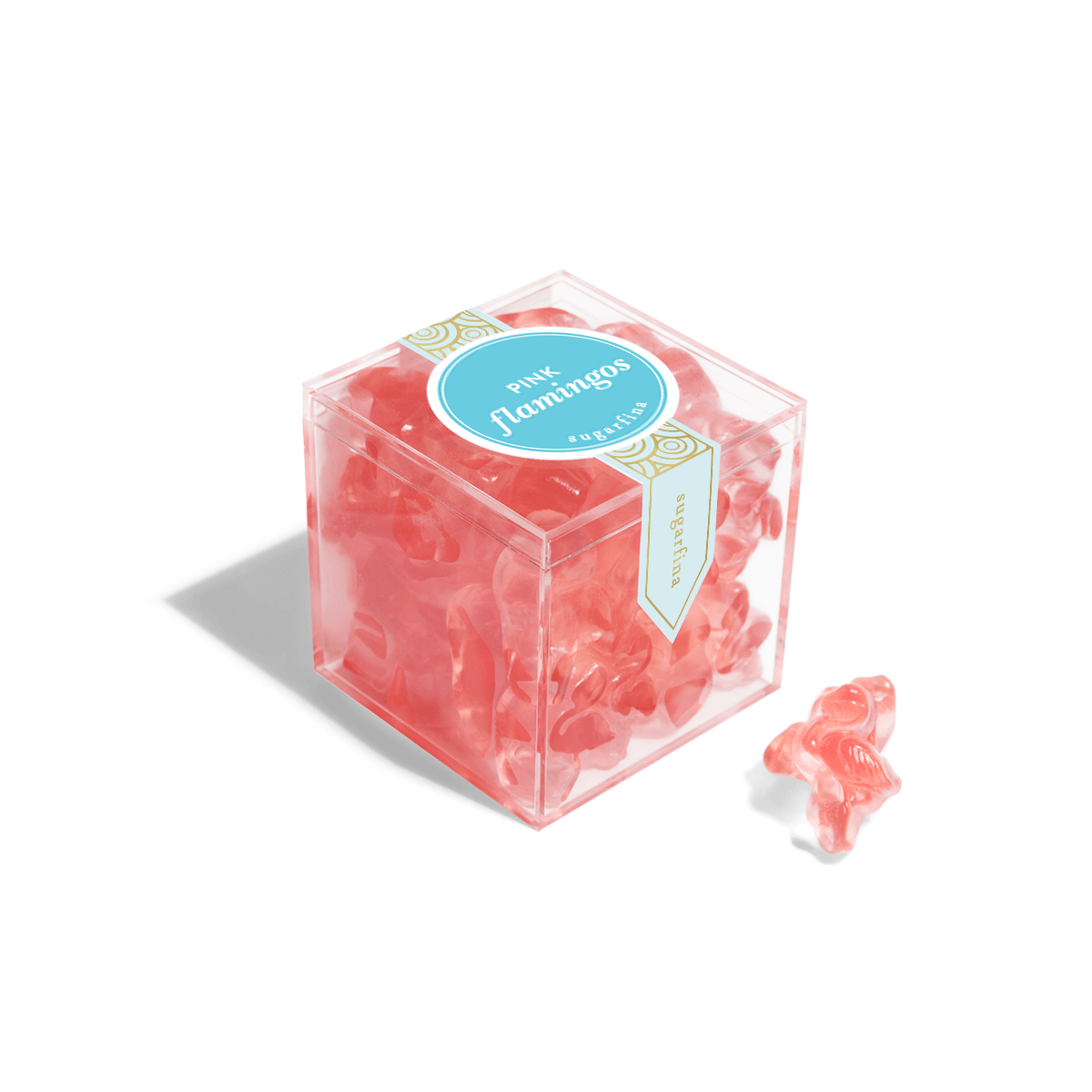 Pink Flamingos - Small Candy Cube