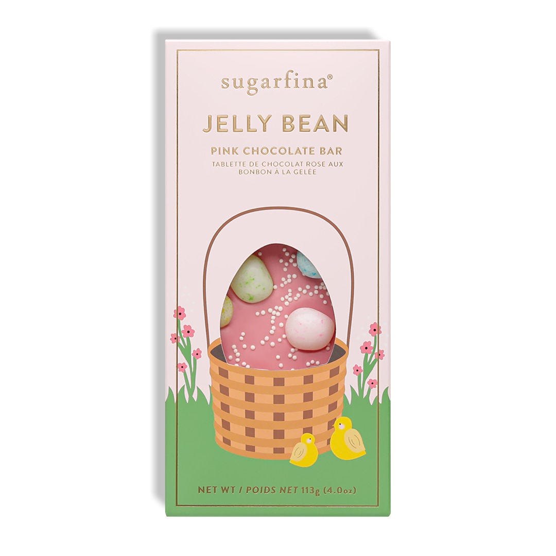 Jelly Bean Pink Chocolate Bar
