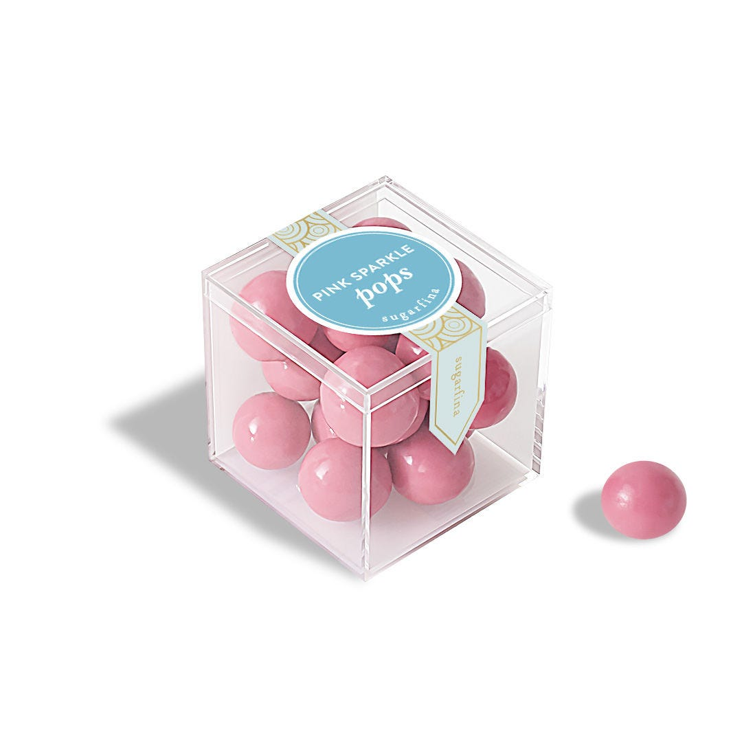 Pink Sparkle Pops - Small Candy Cube