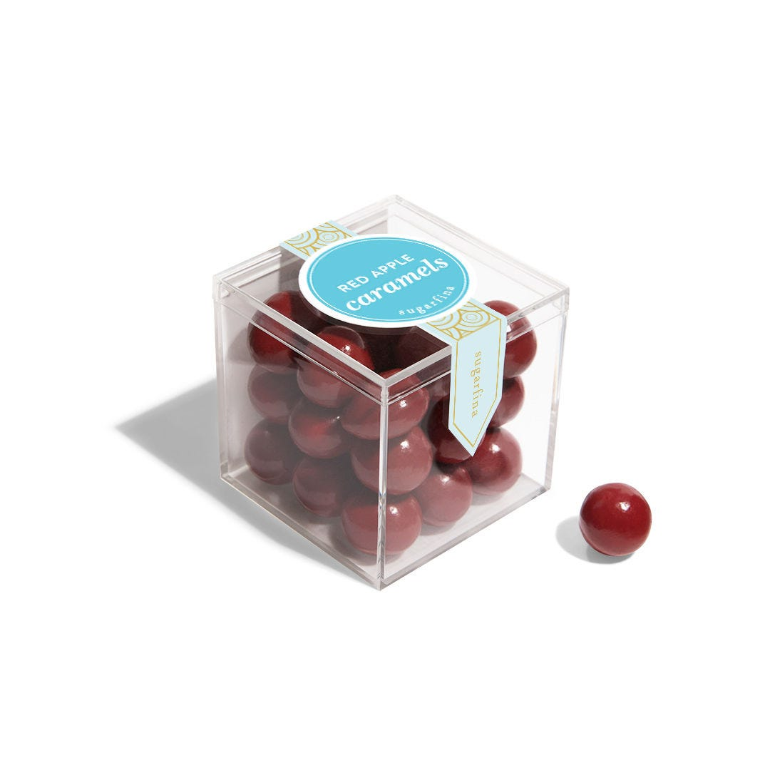 Red Apple Caramels - Small Candy Cube