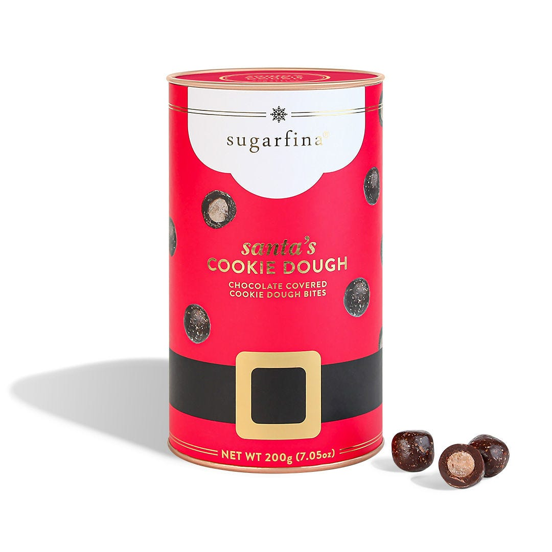 Santa's Cookie Dough Canister