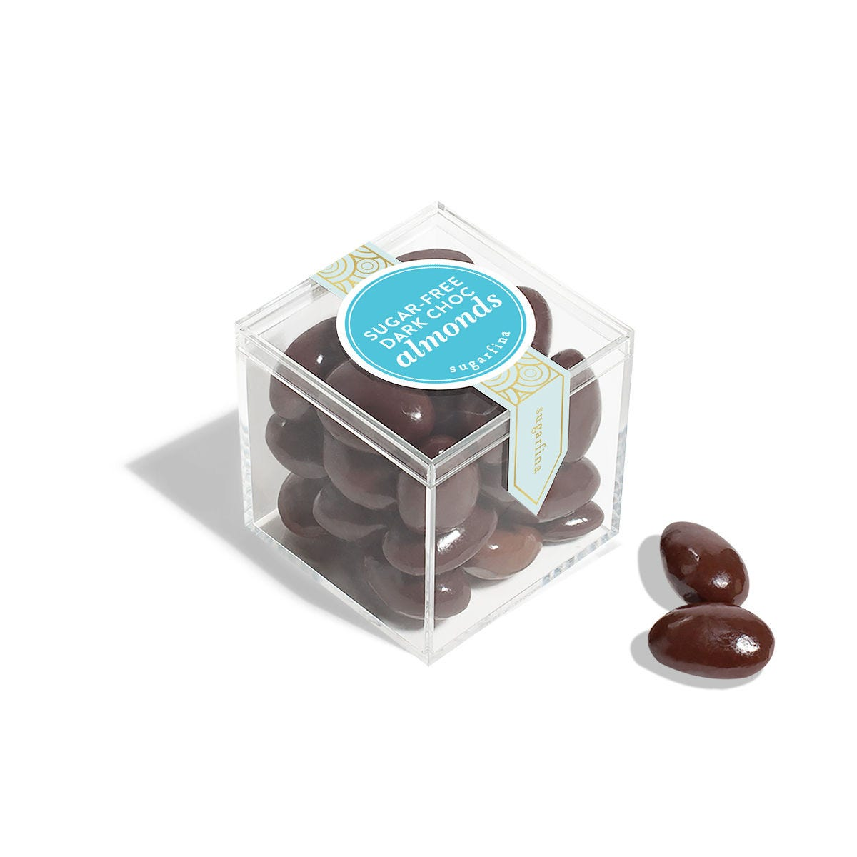 Sugar-Free Dark Chocolate Almonds - Small Candy Cube