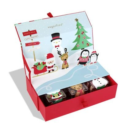 Winter Wonderland 3 Piece Candy Bento Box