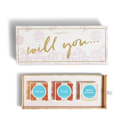 Will You Be My Maid of Honor 3 Piece Candy Bento Box