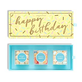 Happy Birthday 3 Piece Candy Bento Box