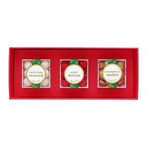 Happy Holidays 3 Piece Candy Bento Box
