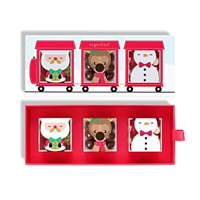 Santa's Train 3 Piece Candy Bento Box