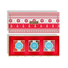 """Merry Christmas"" 3 Piece Candy Bento Box"