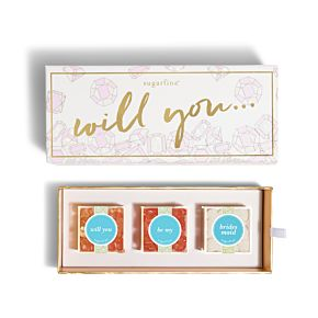 Will You Be My Bridesmaid 3 Piece Candy Bento Box