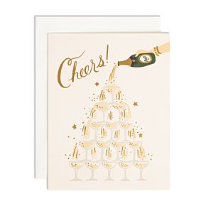 Champagne Tower Cheers Card