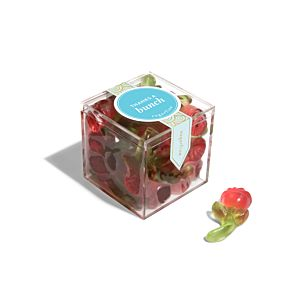 """""""Thanks a Bunch"""" Long-Stem Roses - Small Candy Cube"""