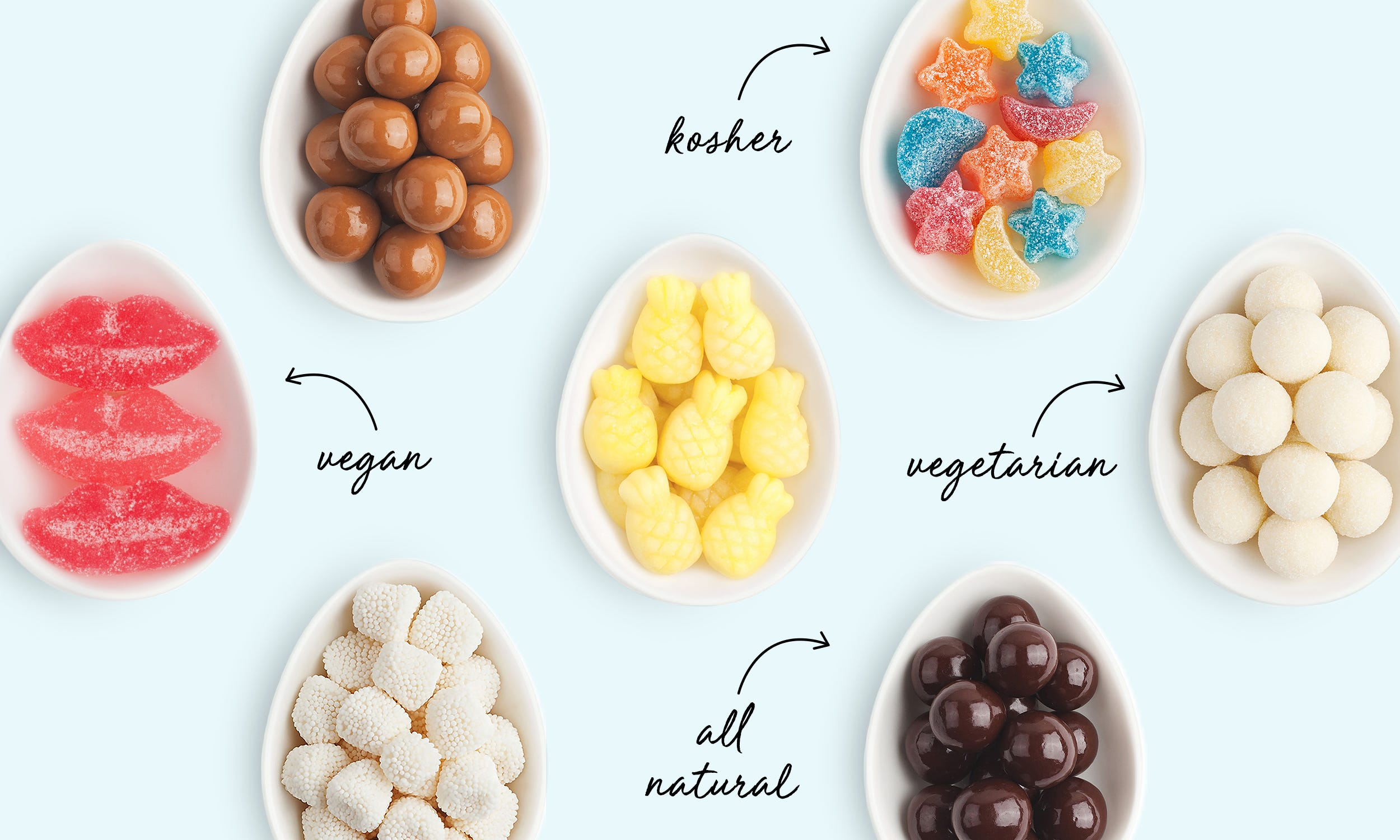 Special Dietary Needs? Learn About Our Vegan, Vegetarian & Kosher Candies!