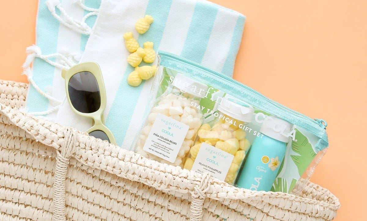 The Summer Cake You Need to Make: How to Decorate with the Sugarfina x COOLA Stay Tropical Gift Set