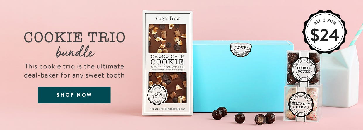 Cookie Trio Bundle. This cookie trio is the ultimate deal-baker for any sweet tooth.