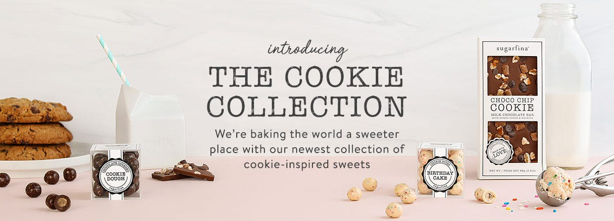 Introducing the Sugarfina Cookie Collection. We're baking the world a sweeter place with our newest collection of cookie-inspired treats.