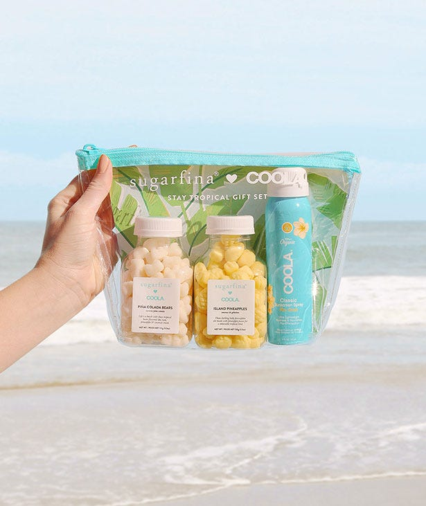 Paradise found. Sugarfina teamed up with COOLA to bring you a sunny sweet treat that will make this summer one in a melon.