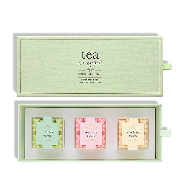 When it's time for my caffeine kick, I'll grab my adorable Tea 3 piece bento box and eat a few of my favorite Tea flavored candies. The candies are so small, it's hard to portion control but how can you know when the packaging is so ADORABLE!