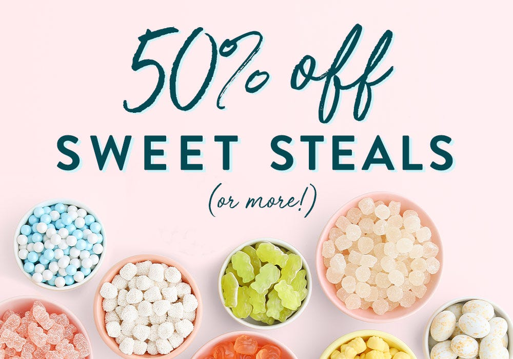 Enjoy 50 percent to 70 percent off select treats for a limited time! No code needed. priced as marked.