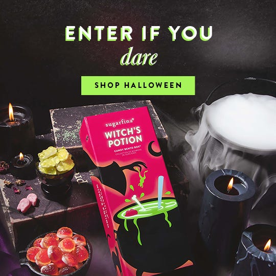 Our cauldron is overflowing with bewitching Halloween candies to get you in a festively frightful spirit.