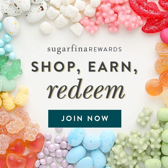 Shop, earn, redeem. Join Sugarfina Rewards and get rewarded every time you treat a friend or yourself.