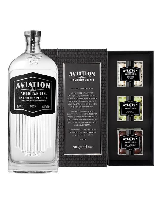 Reserve Bar Aviation Gift Set with Sugarfina Candy and Aviation Gin Bottle