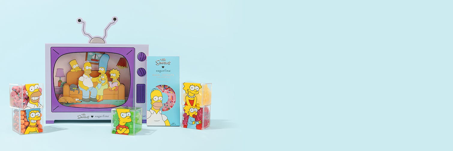 The perfect marathon-viewer companion includes our entire The Simpsons x Sugarfina collection!